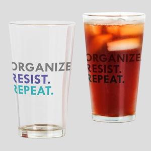 ORGANIZE. RESIST. REPEAT. Drinking Glass