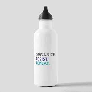 ORGANIZE. RESIST. REPEAT. Water Bottle
