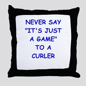 curler Throw Pillow