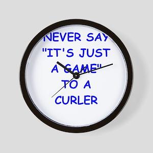 curler Wall Clock