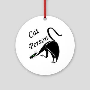 Cat Person 2 Ornament (Round)