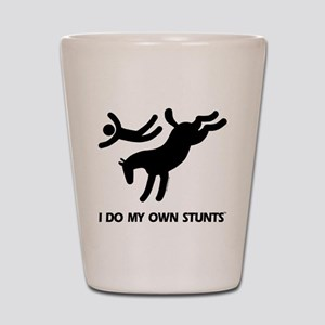 TM bucking horse t-shirt Shot Glass
