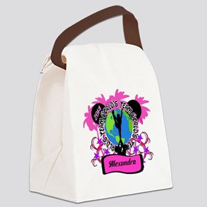 Customizeable Worlds Cheer Canvas Lunch Bag