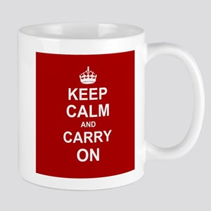 Keep Calm and Carry On - red Mugs