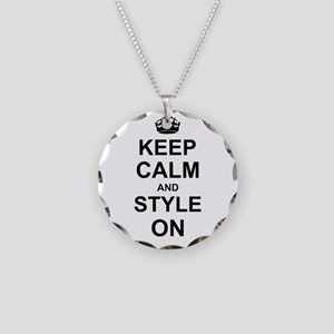 Keep Calm and Style on Necklace Circle Charm