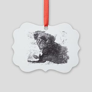 Perk sketch Picture Ornament