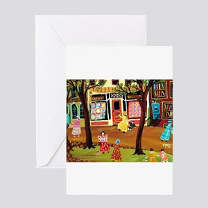 FASHIONABLE QUILT DISTRICT Greeting Cards