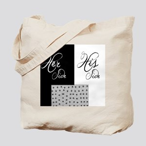 Her Side His Side, Pet bottom Tote Bag