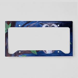 Night Owl art License Plate Holder