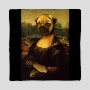 Mona Lisa Pug Queen Duvet