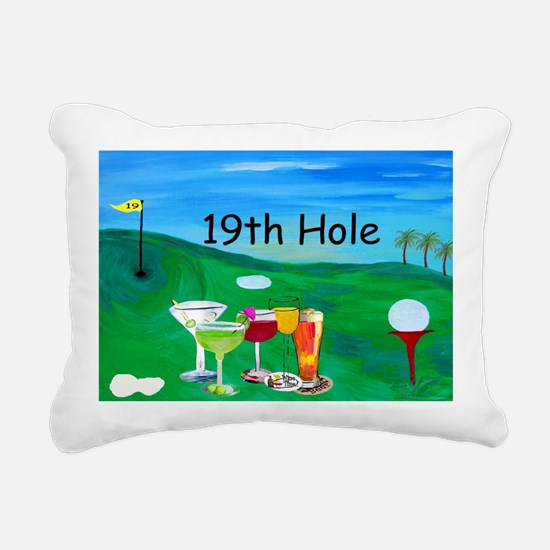 Golf art 19th hole Rectangular Canvas Pillow