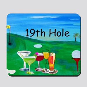 Golf art 19th hole Mousepad