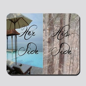his her paradise Mousepad