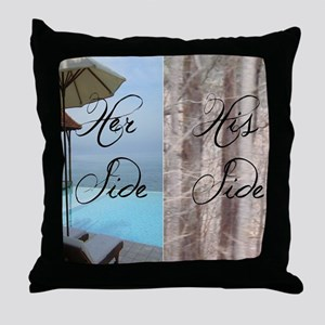 his her paradise Throw Pillow