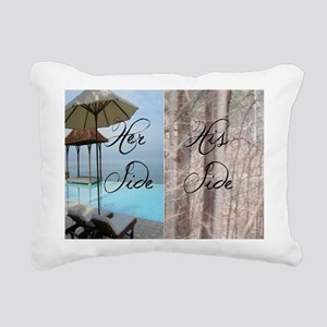 his her paradise Rectangular Canvas Pillow