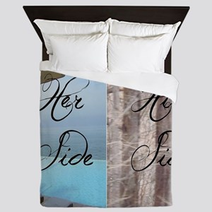 his her paradise Queen Duvet