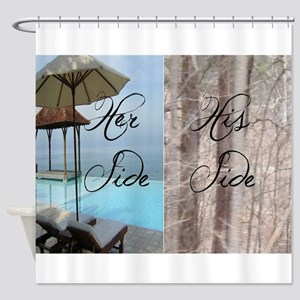his her paradise Shower Curtain