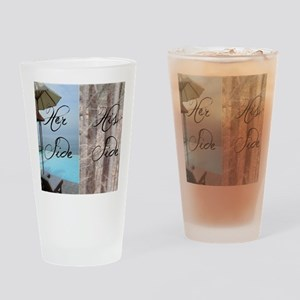 his her paradise Drinking Glass