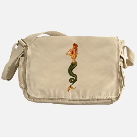 Vintage Pin Up Mermaid ~ Autumn  Messenger Bag