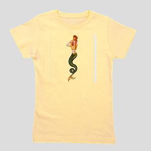 Vintage Pin Up Mermaid ~ Autumn  Girl's Tee