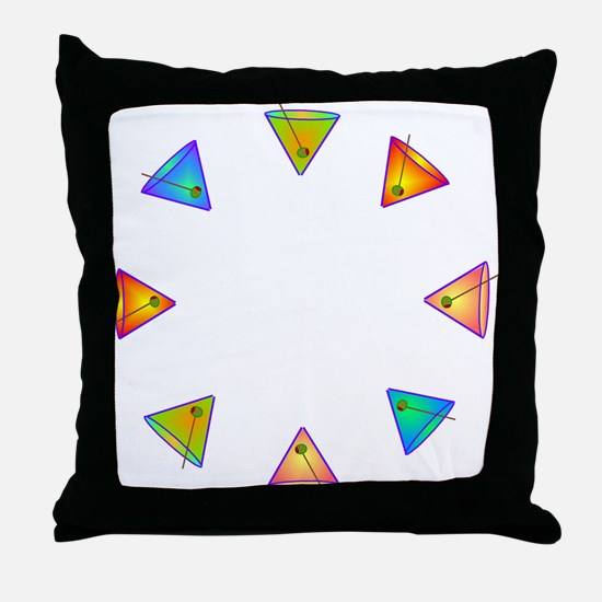 floating martinis Throw Pillow
