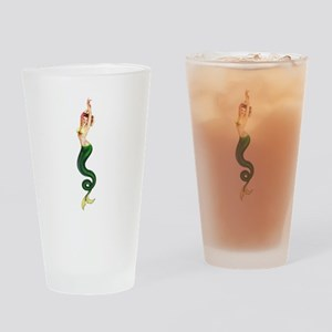 Vintage Pin Up Mermaid ~ Spring  Drinking Glass