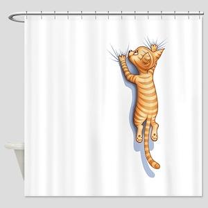 Hang-On-Cat-Ltt Shower Curtain
