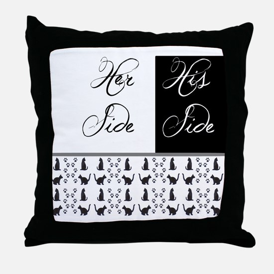 her,his, cat Throw Pillow