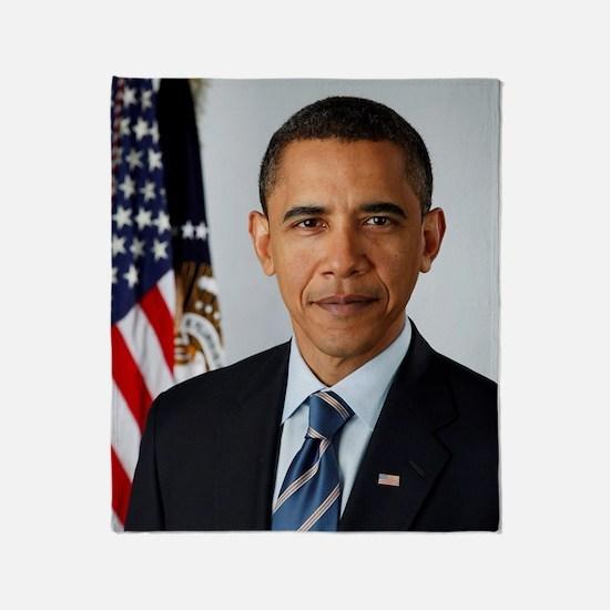 Cute Obama president Throw Blanket