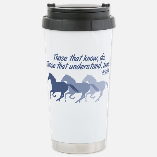horses teach cup Travel Mug
