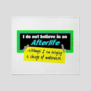 Change Of Underware/Woody Allen Throw Blanket