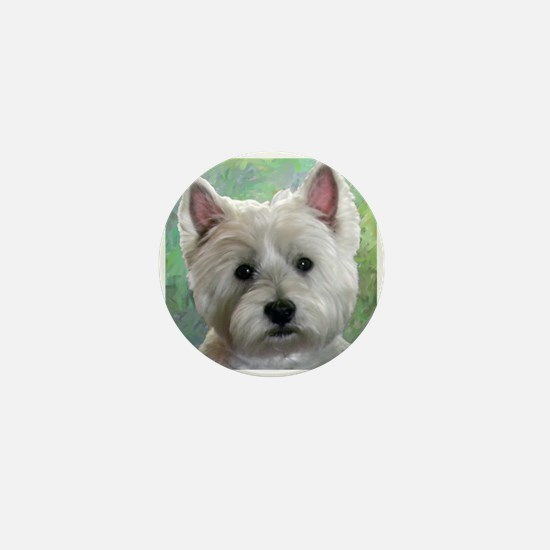 PORTRAIT OF A WESTIE Mini Button