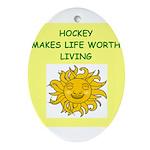 hockey Ornament (Oval)