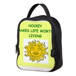 hockey Neoprene Lunch Bag