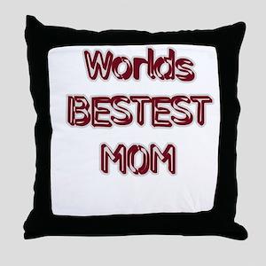 BESTEST Mom Throw Pillow