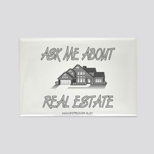 Ask About Real Estate Rectangle Magnet