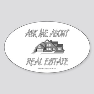 Ask About Real Estate Oval Sticker