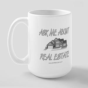Ask About Real Estate Large Mug