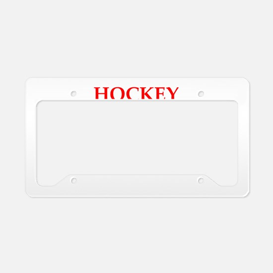 hockey License Plate Holder