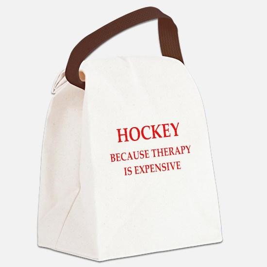 hockey Canvas Lunch Bag