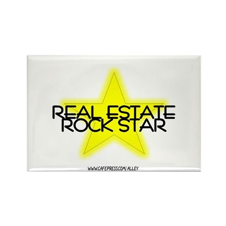 Real Estate Rock Star Rectangle Magnet