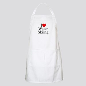 """I Love (Heart) Water Skiing"" BBQ Apron"