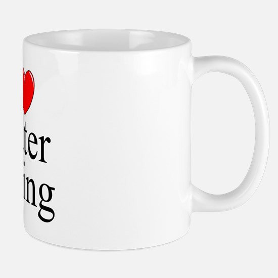 """I Love (Heart) Water Skiing"" Mug"