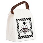 Checkerboard Logo Canvas Lunch Bag