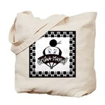 Checkerboard Logo Tote Bag