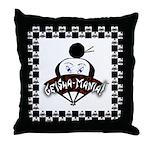 Checkerboard Logo Throw Pillow