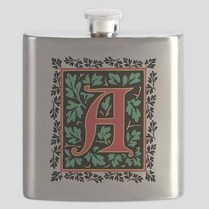 Elegant Medieval Monogram A Flask
