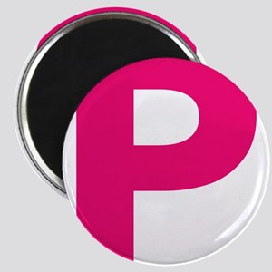 Letter P Pink Magnets