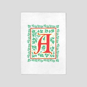 Elegant Renaissance Letter A 5'X7'a 5'X7'area Rug