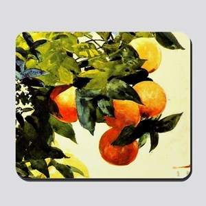 Oranges on a Branch; Winslow Homer paint Mousepad